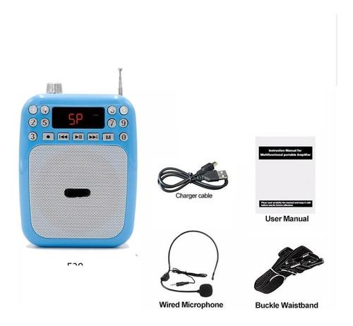 Megafono Portatil Usb Recarga Bluetooth Aux Radio