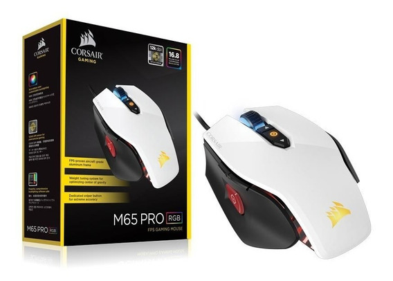 Mouse Gamer Corsair Ch-9300111-na M65 Rgb 12000dpi Branco