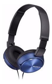 Fone De Ouvido Com Microfone Mdr Zx310 Azul Sony Original