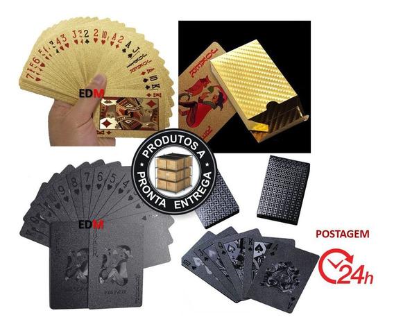 Baralho Dourado Ouro 24k Poker Truco Cartas Jogos