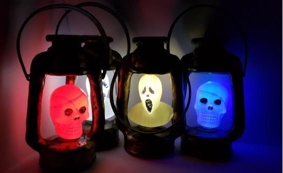 Farol Luminoso Decoracion Halloween - Pack X 3 Unidades