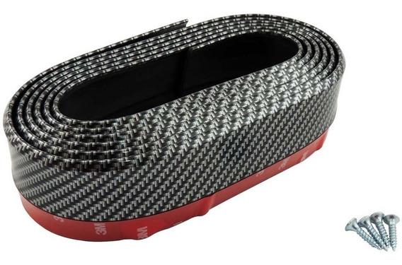 Spoiler Flexível Front Lip Ez Lip Universal Carbono 2,5mx5cm