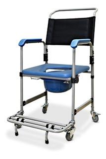 Cadeira De Banho Adulto Em Aço Dobravel 150 Kg D50 Dellamed