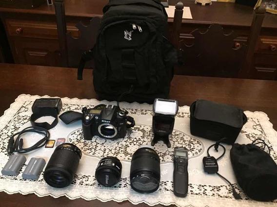 Nikon D90 + Lentes + Flash + Controle Remoto + Mochila
