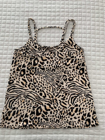 Ayres Top Remera Musculosa Animal Print S