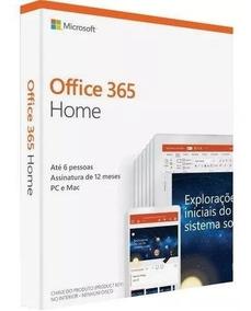 Office 365 Home- 6 Licenças + 1tb De Hd Virtual Para Cada