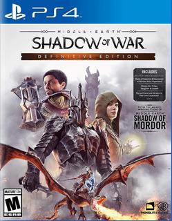 Shadow Of War Definitive Edtion Para Ps4 Nuevo