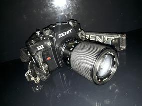 Máquuna Fotográfica Câmera Antiga Zenit 123 Lente Macro 70