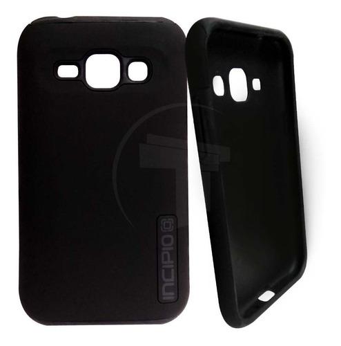 Case Forro Estuche Telefono Samsung J1 Incipio Negro