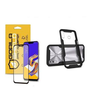 Capa Dual Shock E Película Coverage Preta Zenfone 5 5z - Gs