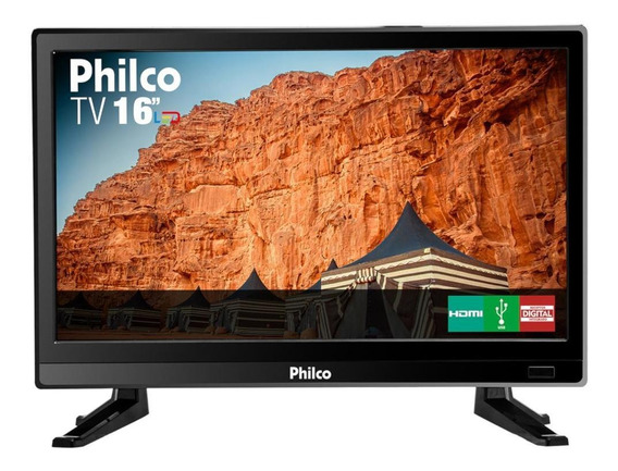 Tv 16 Philco Led Hd Ptv16s86d Conversor Digital 2 Hdmi