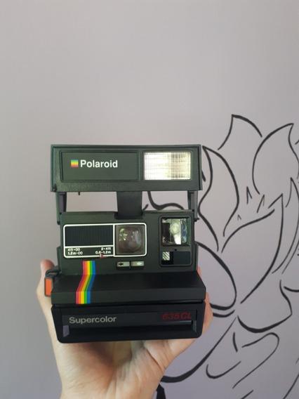 Câmera Polaroid 635cl Funcionando, Pouco Usada.