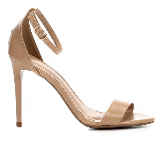 Sandália Salto Alto Fino Feminina 37 - Bege