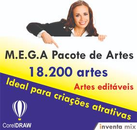 M.e.g.a Pacote De Artes - 18.200 Arquivos