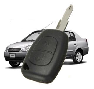 Carcasa Llave Nissan Platina Renault Clio 2 Boton Con Forja