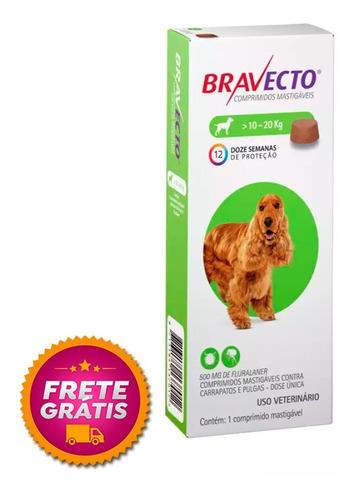 Imagem 1 de 4 de Bravecto 500mg Antipulgas E Carrapato 10-20kg