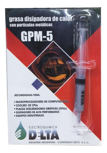 Grasa Disipadora Jeringa 5 Cc Con Partículas Metalicas
