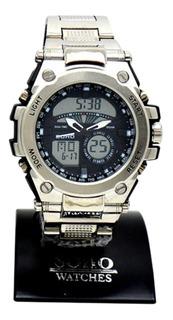 Reloj Caballero Analogo Digital Sumergible 3atm Soho Ch033