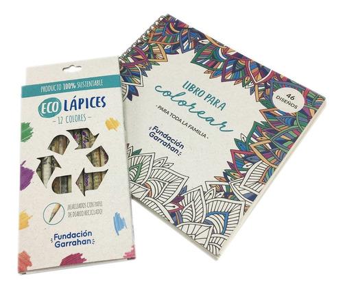 Eco Kit Libro Y Lápices Para Colorear - Fundación Garrahan E
