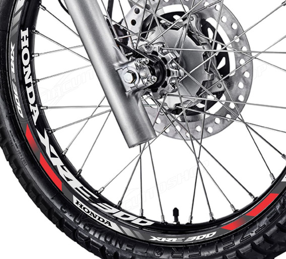 Friso + Adesivo Interno D10 Roda Moto Honda Xre 300