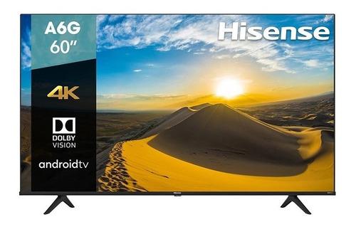 Imagen 1 de 5 de Smart Tv 60 Hisense 4k Uhd Hdr10 Dolby Usb Hdmi 60a6g