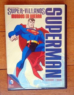 Superman Super-villanos Mundos En Guerra Dvd Original