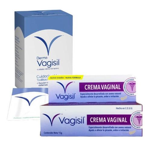 Crema Vaginal+ Toallitas Humed. Cuidado Intimo Dermo Vagisil