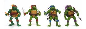 4 Bonecos As Tartarugas Ninja 2 - Completo Com Acessórios