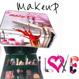 Make Up Caja De Maquillaje Con Divisiones (6 Divisiones)