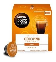 Cápsulas Nescafé Dolce Gusto Colombia Lungo Oficial