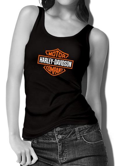 Harley Davidson Playera Sin Mangas Para Dama Clasica