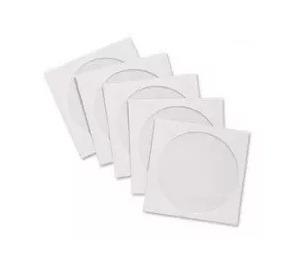 500 Capas Envelopes Brancos Cd Dvd Com Janela Transparente