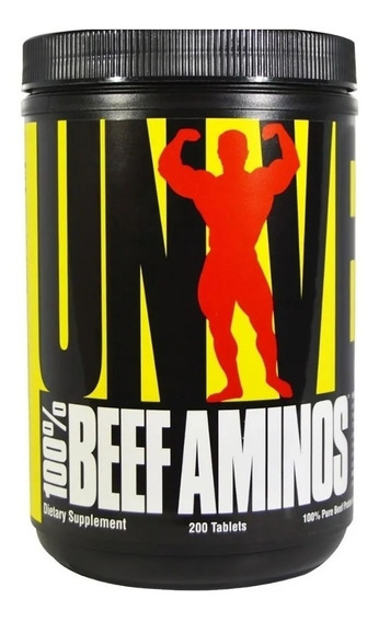 100% Beef Aminos X 200 Tabs Universal Nutrition