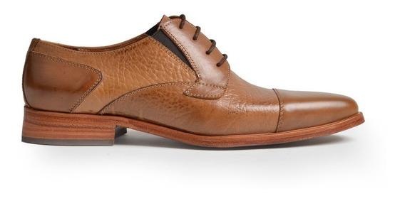 Zapatos De Hombre De Cuero Vacuno Graneado Homero - Ferraro