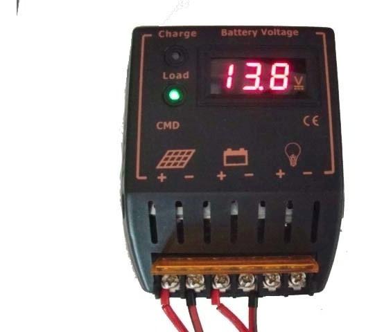 Controlador De Carga Solar 10a 12/24v Com Display