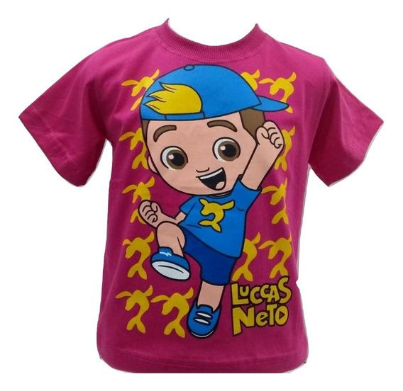 Camiseta Infantil Lucas Neto Foca Manga Curta Promoção