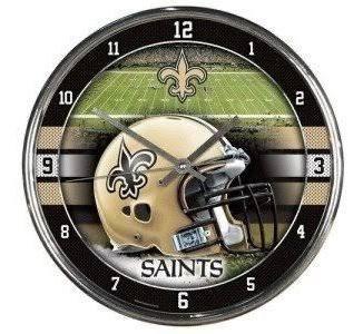 Reloj De Pared Saints De Nuevo Orleans Original Nfl
