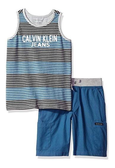 Conjunto Calvin Klein Niño Talle 3 Años Inportado Nuevo