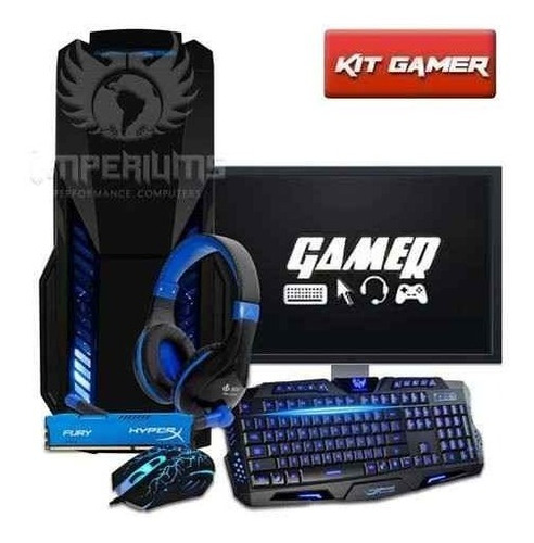 Cpu Gamer + Monitor 18.5 Amd A4 7300/ 1tb/ 16gb/ Hd 8470d