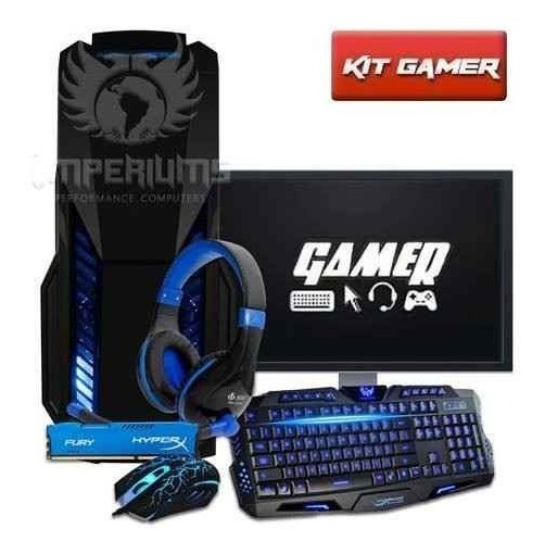 Cpu Gamer + Monitor 18.5 Amd A4 7300/ 1tb/ 16gb/ Hd 8470d