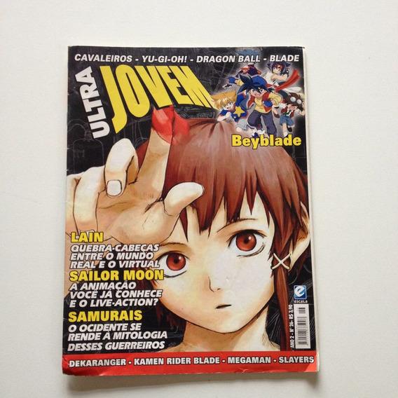 Revista Ultra Jovem Beyblade Sailor Moon Lain Samurais N°26