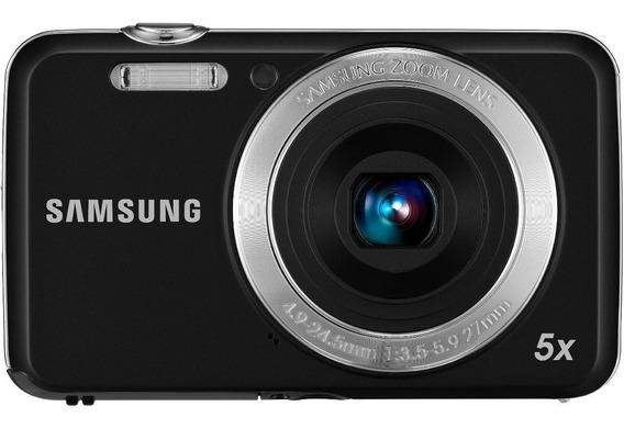 Camera Samsung Es80 12mp 5x Preta Datador Nova Envio Já