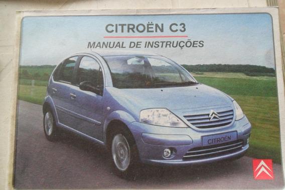 Manual Citroen C3 Em Branco Original