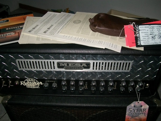Mesa Boogie Dual Rectifier 100w 3 Canais/ Top/foot/ Tags