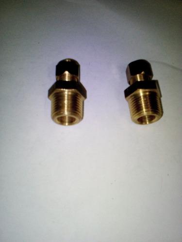 Conector Bronce Macho 1/2 .. Compresion De 3/8
