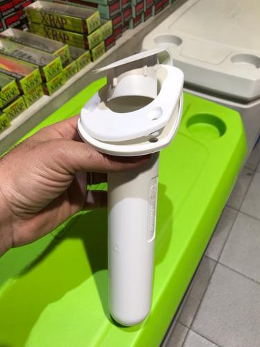 Posacañas Embutir Ancho Oval C/tapa Blanco Tw