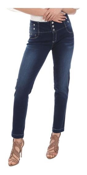 Jeans Studio F Stertch, Sin Bolsos Pump Up 6359m Talla L