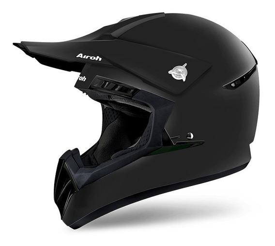 Capacete Airoh Motocross Switch Color Black Matt