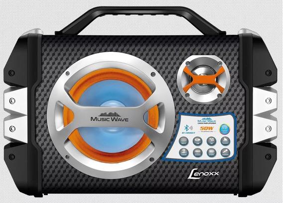 Caixa Amplificada Lenoxx Bluetooth Com Microfone Usb Bivolt