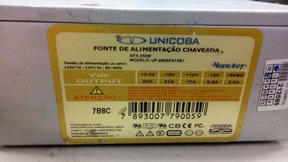 Fonte Atx 24 Pinos + Sata Unicoba Uf-250sf12b1 250w